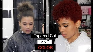 getlinkyoutube.com-Tapered Cut Natural Hair and Color! TYPE 4a/4b