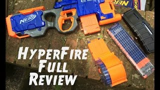 getlinkyoutube.com-Review: Nerf HYPERFIRE (New Unboxing and Firing Demo)