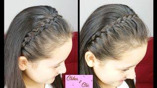 getlinkyoutube.com-Diadema con trenzas! (2 Opciones) - Braided headbands | Peinados Faciles y Rapidos | Trenza Diadema