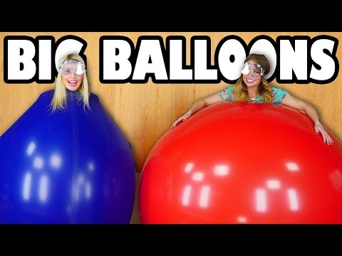 Big Balloon Challenge Jenn vs Lindsey. Totally TV