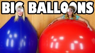 getlinkyoutube.com-Big Balloon Challenge Jenn vs Lindsey. Totally TV