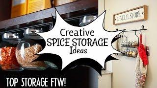 10 DIY Spice Storage ideas width=