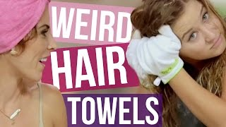 getlinkyoutube.com-3 Weird Hair Drying Towels (Beauty Break)
