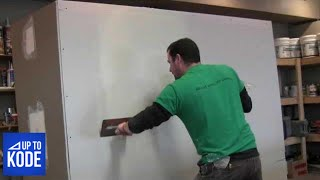 getlinkyoutube.com-Best Way to tape and coat a Butt Joint in Drywall (#2012)