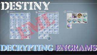 getlinkyoutube.com-How to Get Engrams Fast On Destiny (Decrypting Over 150 Engrams)