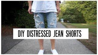 getlinkyoutube.com-HOW TO |  DIY | DISTRESSED JEAN SHORTS TUTORIAL