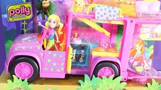 getlinkyoutube.com-Playset Trailer Safari da Polly Pocket Slumber Party Camping - ToysBR