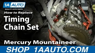 getlinkyoutube.com-Part 1 How To Install Replace Timing Chain Tensioner and guides 4.6L Ford V8