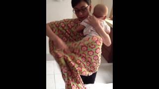 getlinkyoutube.com-Cara menggendong bayi dengan menggunakan kain cukin DANKE