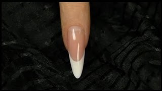 getlinkyoutube.com-Step-By-Step Tutorial to Sculpting Classic Almond Nails from Gel - Official Crystal Nails Technique