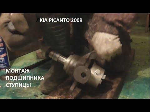 Ч2- установка подшипника передней ступицы kia picanto направляющие суппорта смазка