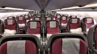 getlinkyoutube.com-Qantas A380 cabin walkthrough - upper deck