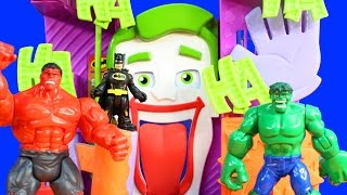 getlinkyoutube.com-Imaginext Superman Justice League Rescue Batman Robin And Cyborg From Villians