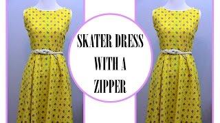 getlinkyoutube.com-How to sew a Circle Skirt Dress