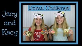 getlinkyoutube.com-Donut Challenge ~ Jacy and Kacy