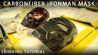 getlinkyoutube.com-Carbonfiber Skinning or Wrapping Tutorial - Ironman & Spiderman Mask