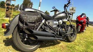 getlinkyoutube.com-Prueba Keeway superlight 200 | Test Ride