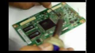 getlinkyoutube.com-Como consertar TV LCD Samsung sem imagem ou com imagem borrada, negativa, espelhando ou sem foco.