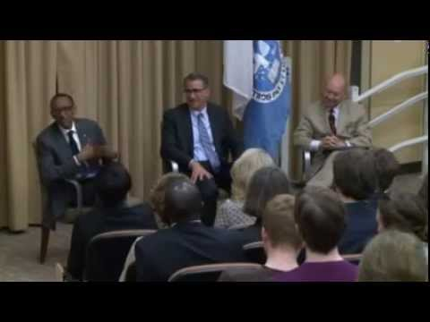 Kagame discuss NdiUmunyarwanda and his third presidential term at Tufts University