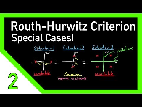 Routh-Hurwitz Criterion, Special Cases