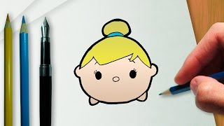 getlinkyoutube.com-How to draw Tinker Bell Disney Tsum Tsum version
