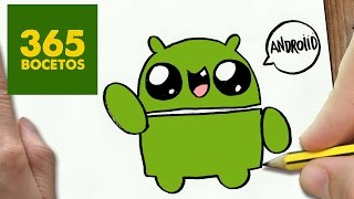 getlinkyoutube.com-COMO DIBUJAR LOGO ANDROID KAWAII PASO A PASO - Dibujos kawaii faciles - How to draw a Logo Android