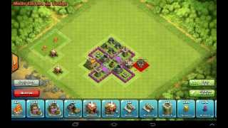 getlinkyoutube.com-Comment faire un village sur clash of clans [HDV 4]