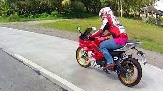 getlinkyoutube.com-Yamaha YZF R15 topspeed  version 2 ( 100% all stock motorcycle bike )