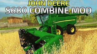 getlinkyoutube.com-Farming Simulator 2015- JOHN DEERE S680 Combine!
