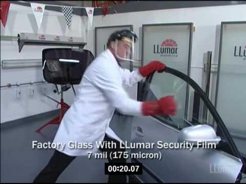 LLumar Window Film Smash & Grab Lab Test