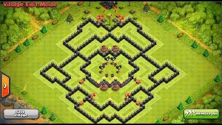 getlinkyoutube.com-Clash Of Clans - Perfect Town Hall 9 FARMING Base!