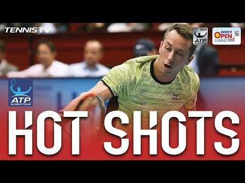 Hot Shot Kohlschreiber Tracks Down Lob, Smashes Winner Vienna 2017