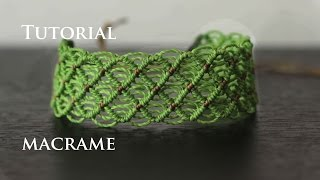 getlinkyoutube.com-pulseras de hilo faciles anchas | friendship bracelet  tutorial