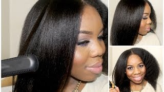 getlinkyoutube.com-From Curly to Straight: Straightening my Natural Hair-lovelyanneka