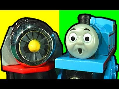 Thomas Tank Jet Engine Crash - Motorized Toy Review