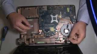 getlinkyoutube.com-Toshiba Satellite C660 13R disassembly & fan cleaning