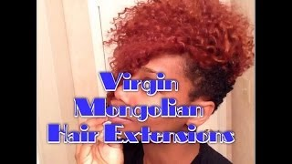 getlinkyoutube.com-Adding Virgin Mongolian Extensions to my Natural Hair (No Glue, No Sew)