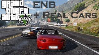 GTA5 MOD : ENB+REAL CARS & THE STIG GAMEPLAY