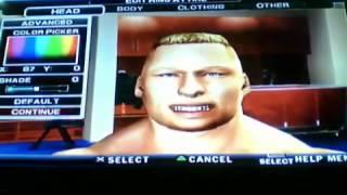 getlinkyoutube.com-How to Make Brock Lesnar In SmackDown Vs Raw 2011 (PS2)