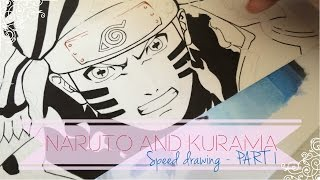 getlinkyoutube.com-Speed Drawing - Kurama & Naruto   PART 1