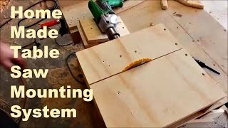 getlinkyoutube.com-Home made table saw, drill mounting system