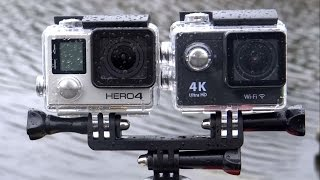 getlinkyoutube.com-EKEN H9 vs Gopro Hero 4 Black Action POV cameras comparison underwater side by side test.