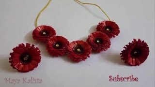 getlinkyoutube.com-How to make Paper Quilling Necklace - Flower Jewelry Set Design - Tutorial !