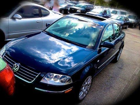 2003 Volkswagen Passat W8 4Motion Start Up, Quick Tour, & Rev With Exhaust View - 109K