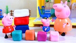 getlinkyoutube.com-Свинка Пеппа. Видео для детей. Мама свинка учит Пеппу и Джорджа смешивать цвета .