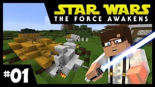 getlinkyoutube.com-Star Wars: The Force Awakens Ep. 1 || SHIP CRASH? || Minecraft Modded Survival