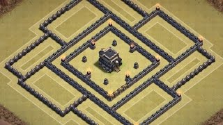 Clash Of Clans | Amazing Th9 War Base Anti 2/3 Star [The Dungeon] W/Replay!