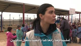 getlinkyoutube.com-توبا بويوكوستن تزور الأطفال السوريين اللاجئين في مخيم الزعتري