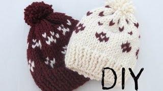 getlinkyoutube.com-DIY Como hacer gorros de lana con dos agujas