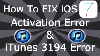 getlinkyoutube.com-How To FIX iOS 7 Activation Error & iTunes 3194 Error